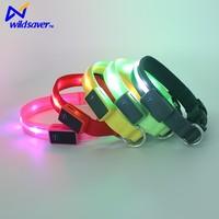 Adjustable LED Light Pet Safety Neck Collar for Dog Cat Visibility & Safety