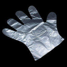 Disposable Clear Poly Hybrid Stretch Gloves