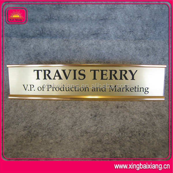 special for office 3d brass beautiful nameplates