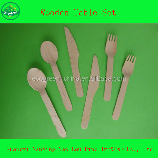 tableware wooden stirrer stick pick spoons