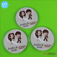 clear acrylic coasters/plastic drink coasters/acrylic photo coaster