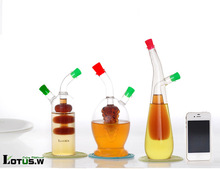 borosilicate glass bottle for oil or vinegar