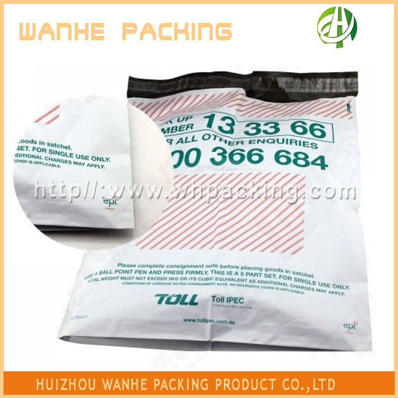 Custom printed plastic a3 envelope bag for mailing shipping