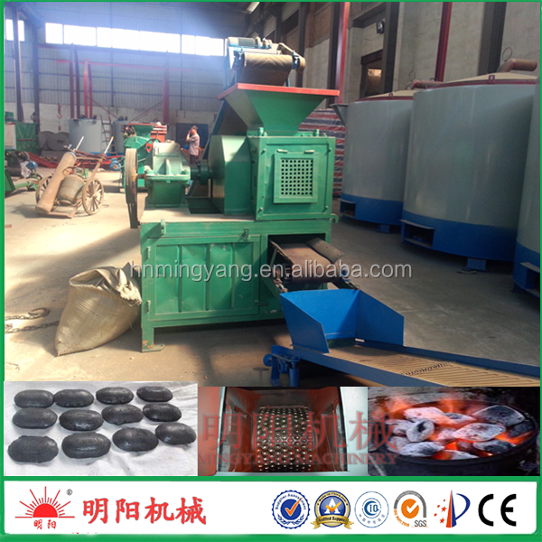 Hot sell four roller double press ball shape machine to make coal briquettes
