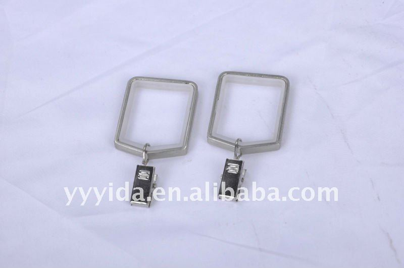 square metal curtain ring