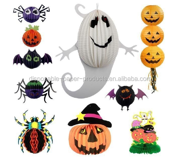 Halloween Party Supplies Decorations Halloween Bat/ Ghost /Witch /JackPumkin Paper Lantern Decoration A Great Gift