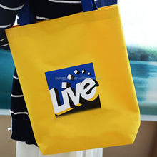 Yellow Durable Oxford Cloth Shopping Handle Bag for Women Should Bags