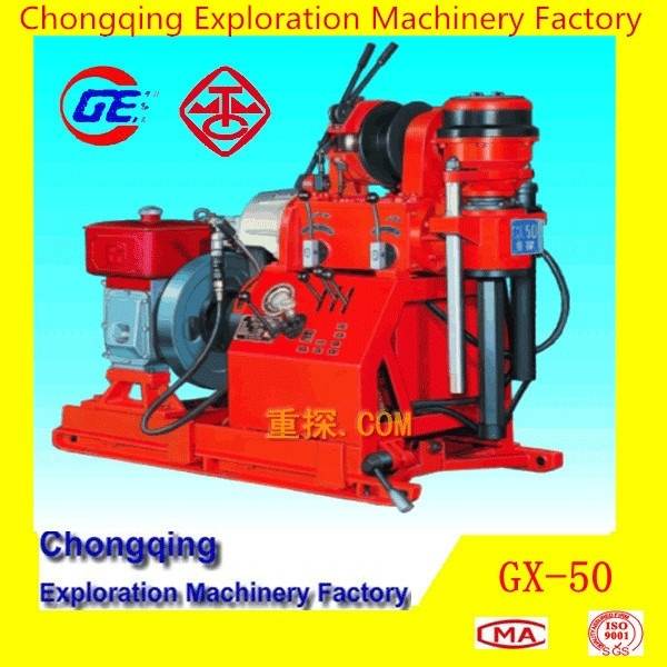 2015 Cheapest GX-50 Portable Skid Mounted Drilling Rig For Soil Investigation Core Drilling Rig and SPT Equipment