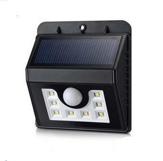 8LED solar garden light solar motion sensor led outdoor light infrared wall Lamp