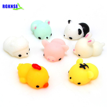 RGKNSE Wholesale Soft Silicon rubber Squeeze Stress Relief Fidget Toys Japan Cat kawaii squishies Licensed Squishy Bear Toy