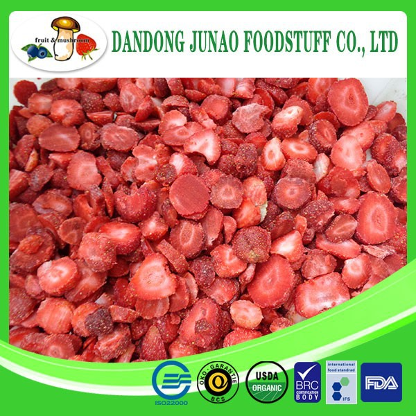 wholesale fruits sweet taste frozen IQF strawberry
