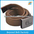 Beyond Men's 4mm Outdoor Army Webbing Military Canvas Belt with Dull Heavy Alloy Buckle