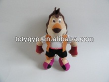 Soft special plush/stuffed horse soldier toys