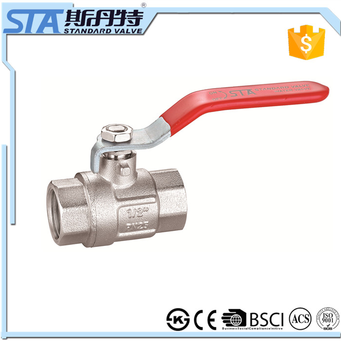 ART.1001 Manufacturer Simple Design DN20 Manual Operated Npt Female Lever Handle Forged Brass Ball cock Valve with Factory Price