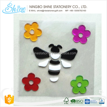 factory design gel sticker jelly sticker for decoration