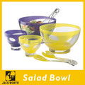 Two Color Bowl Serving Set Acrylic Dinnerware Set Salad Bowl Dinner Set