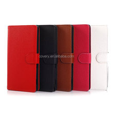 Stand leather shell cases covers for Sony Xperia T2 Ultra