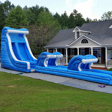 0.55MM PVC Tarpaulin Commercial Adult Giant Big Inflatable Water Slide For Sale