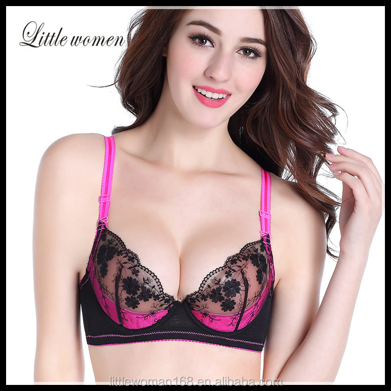 Good quality hot image xxx size Guangzhou transparent nursing bra sexy lace bra