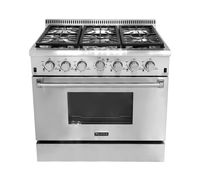 Kitchen Appliance Freestanding 6 burner gas range with grill top