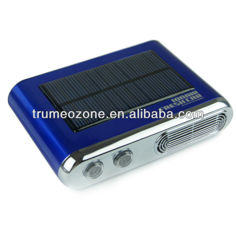 Solar Car UV air purifier Car Product Air Purifier with ionizer and ozonizer UV carbon fitler
