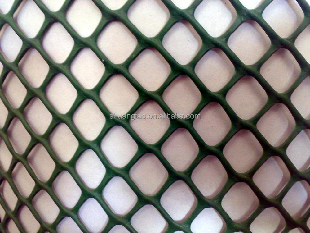 China factory supply plastic flat net/ HDPE Black chickens plastic flat net best price/PP /PE extruded Plastic Mesh