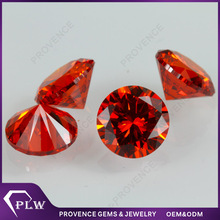Wholesale Price Machine Cut Round Garnet Loose CZ Stone for Jewelry
