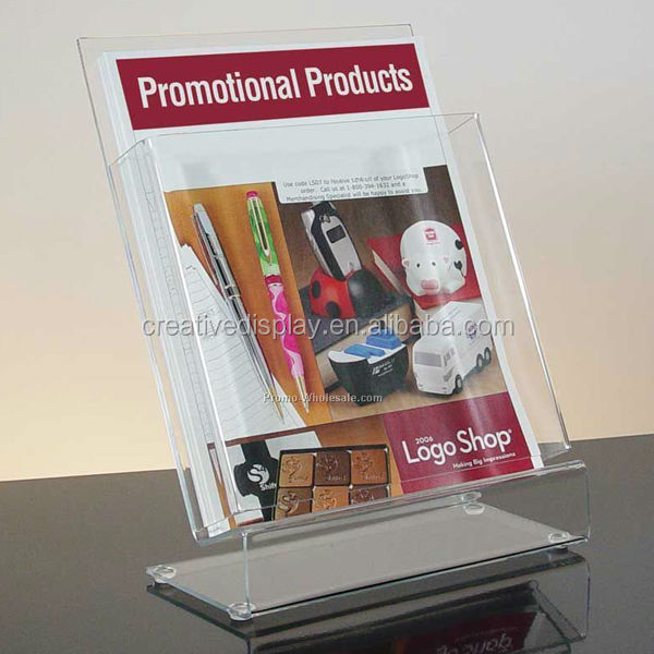 New style design acrylic collapsible brochure holder