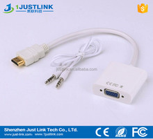 Portable HDMI to VGA Adapter With Audio Cable