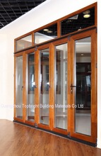70mm Aluminum clad wooden used exterior folding door