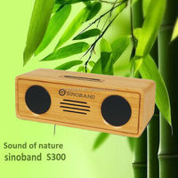 2015 hot product original wireless portable boombox bamboo bluetooth speaker