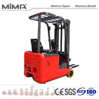 small size 3 Wheel Electric Forklift truck with 1000kgs