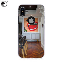 Sublimation printing TPU+PC mobile phone case for iphone X
