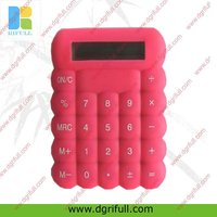 Flexible silicon waterproof calculator
