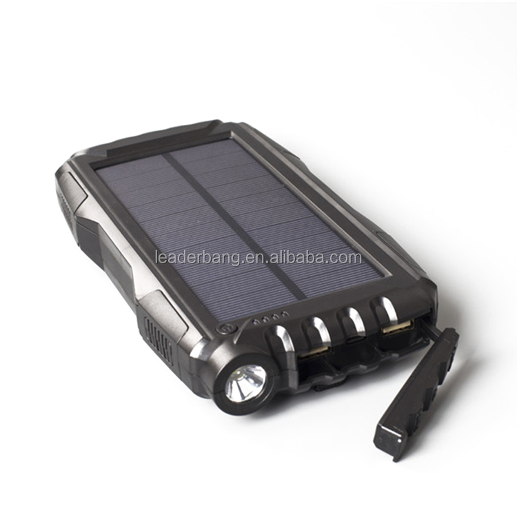 Electronics solar power bank 20000mah charger with led light