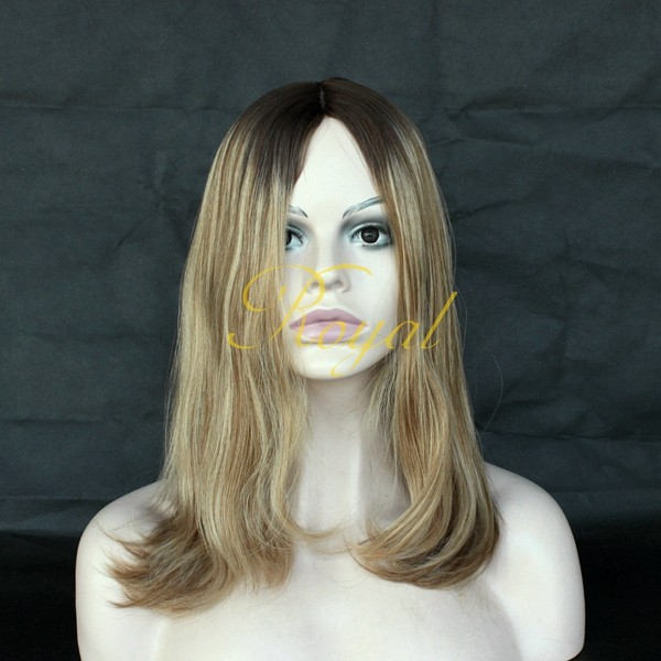 High Quality Mogolian Human Hair Silk Top Invisible Knot Closed Weft Jewish Wig Kosher Wigs in Low Price