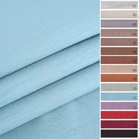 Top quality custom silk like blackout eco-friendly blackout blue curtains fabric