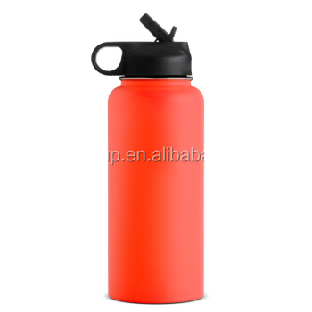 32 OZ HYDRO doubel wall Insulated Water Bottle FLASK,Insulated Stainless Steel Water Bottle with Wide Mouth w/Straw Lid 40oz