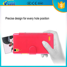 Manufacturer Wholesale Magnetic TPU Frame Premium Leather Flip Case for Lenovo A680