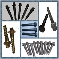 Suyu railway fasteners,screw spike,sleeper screw