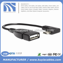 New USB Micro OTG Cable for Samsung Galaxy S2 S3 S4 i9500 i9300 i9100 Note N7000 i9220 OTG Cable Adapter Black