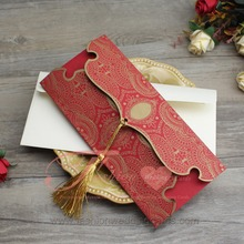 Gold Red Nepali Paper Marriage Invitation Design Wedding Cards
