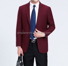 Made to measure men wine red business blazer single-breasted two button suit