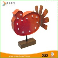 Led light Metal Turkey for Home decor