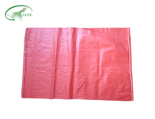 red pp woven bag wheat flour packaging bags made in china