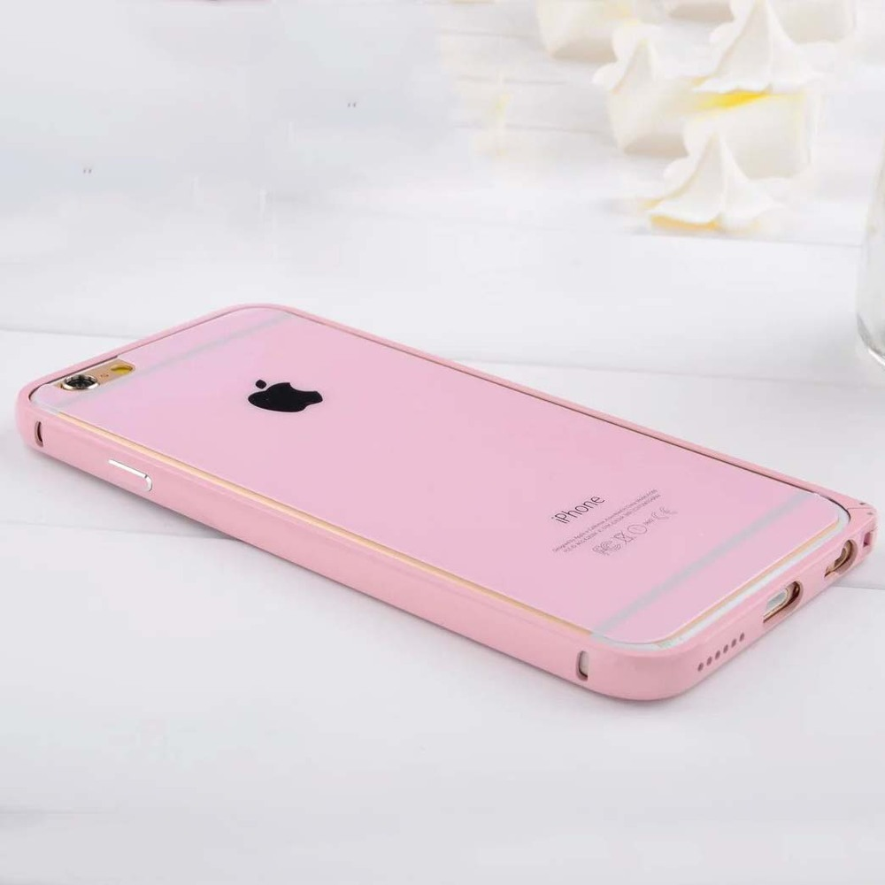 Solid Color Baking Varnish Aluminum bumper Case for iPhone 6 metal bumper case