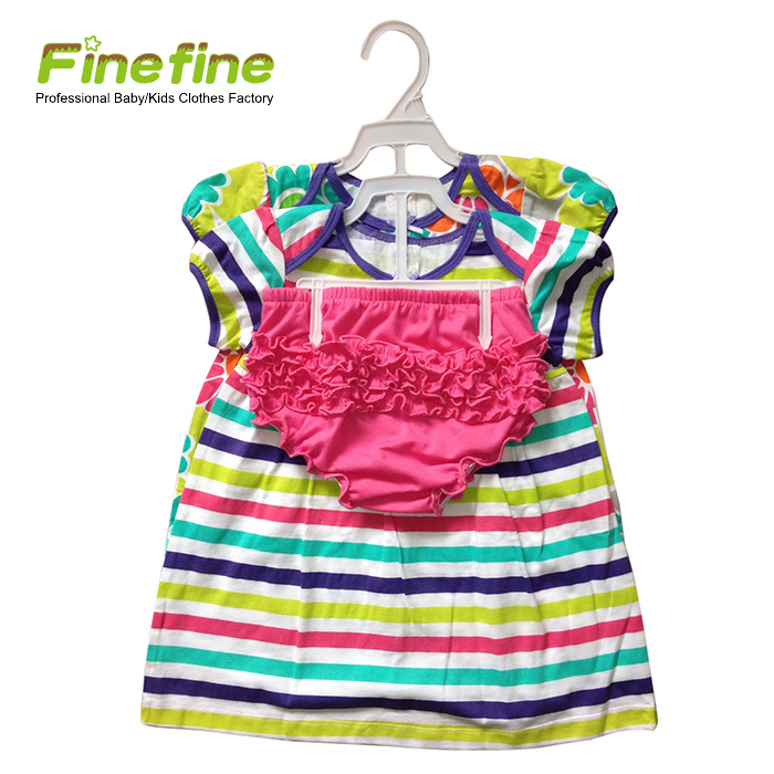 Nice Cute Summer Cotton Baby Girl Clothes Casual Fancy Dresses For Baby Girl