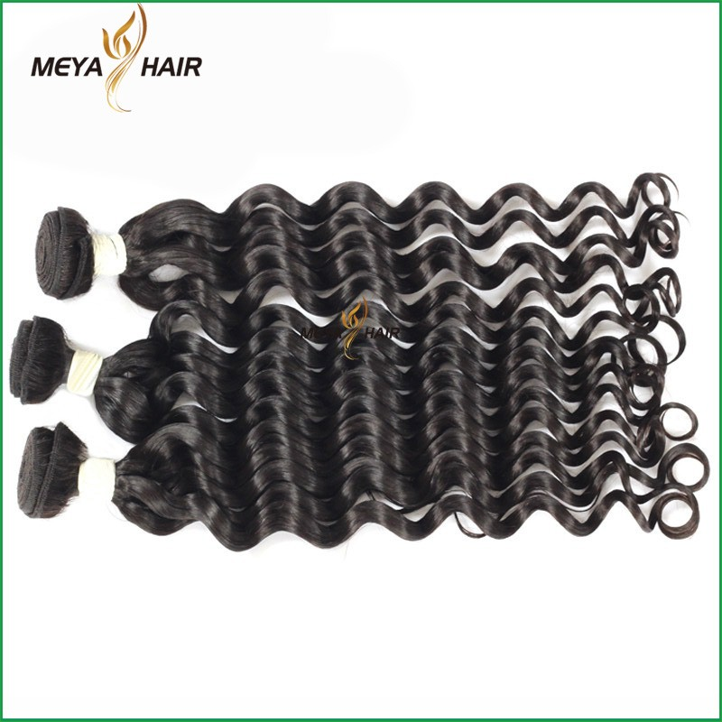 100g natural black deep wave virgin remy brazilian human hair weft extensions aliexpress hair
