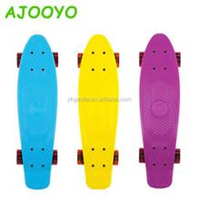 4 wheels 22 inch Complete Skate Board Decks Fish Skateboard