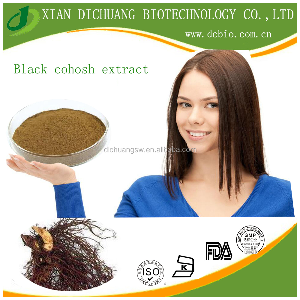 natural herbal extract black cohosh extract powder 5:1 10:1 2.5% saponins UV